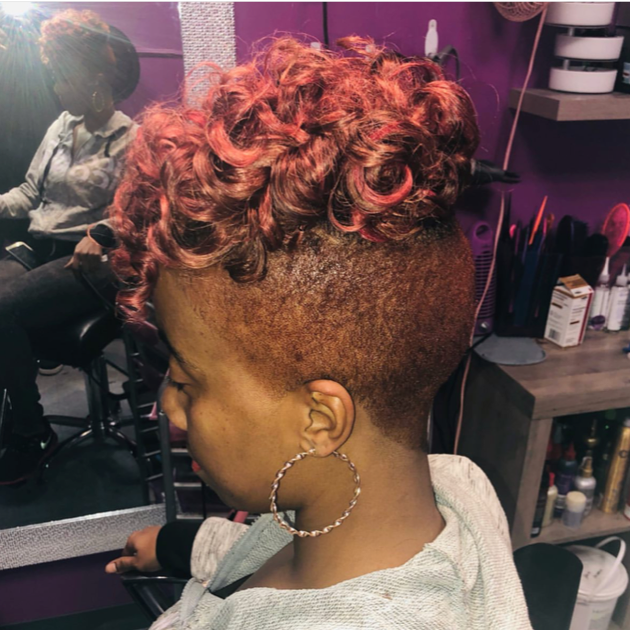 Rose Haircolor, Rosè Hair, Tapered Womens Haircut, Pink Hair