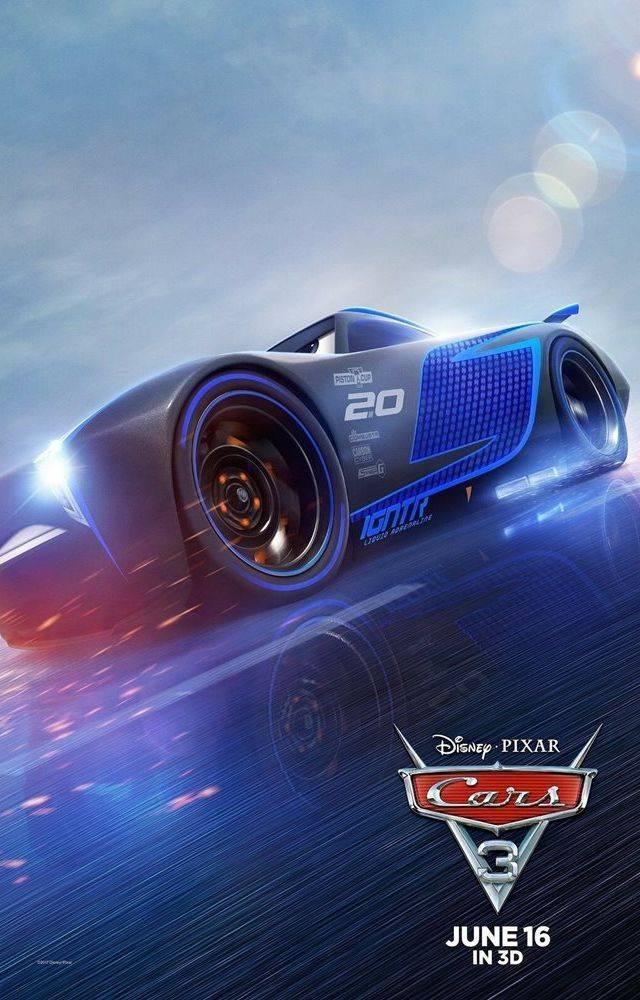 Movie poster for Cars 3 Disney Pixar