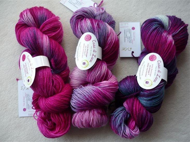handgefärbte Wolle. Design by Casa di Lana