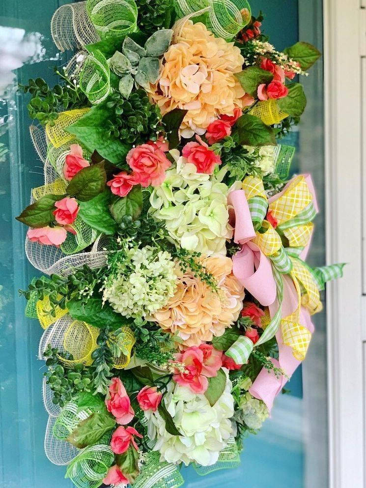 Hydranga Spring Wreath