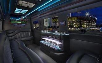 Inside The 12 Passenger Limousine Style Sprinter.