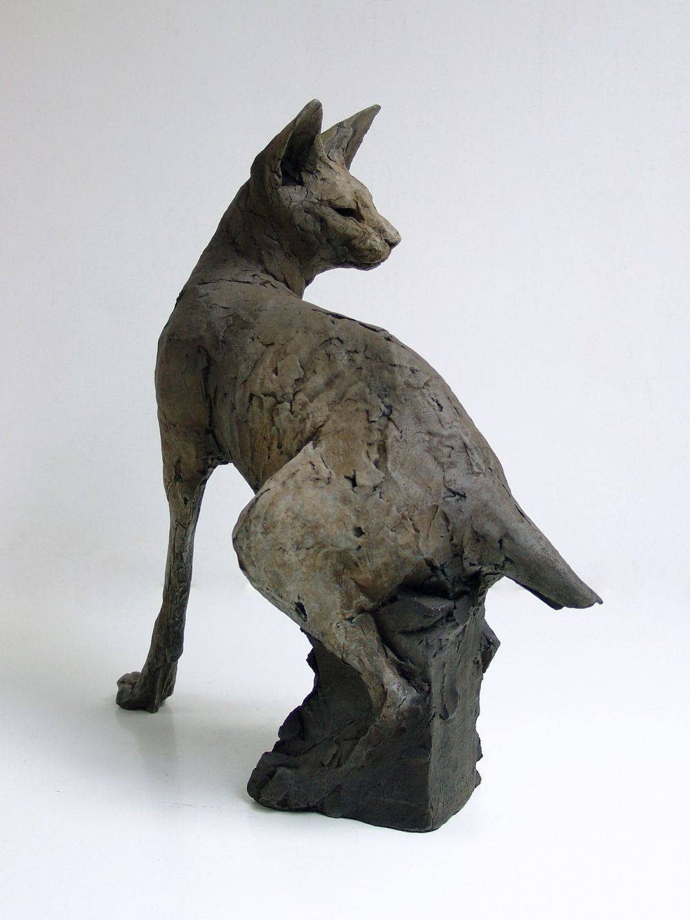 Bronze sculpture. Egyptian cat.