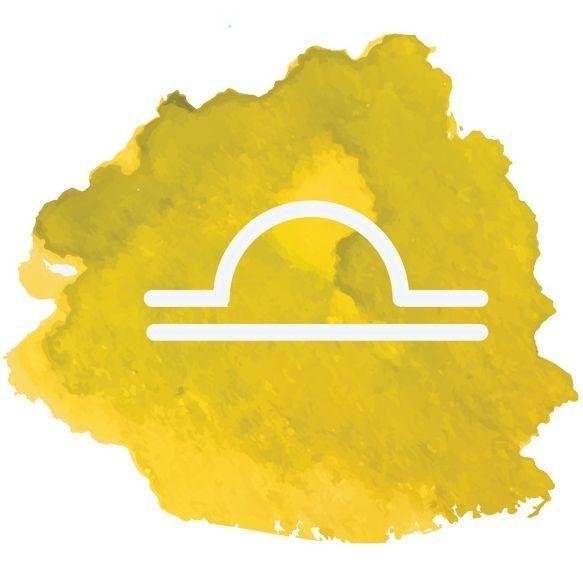 Image: watercolor Libra symbol