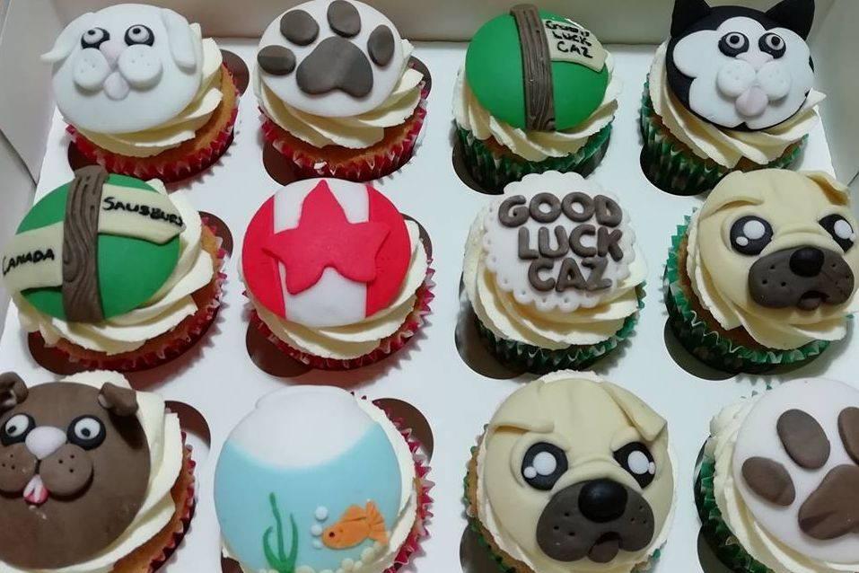 Animal Themed Cupcakes