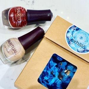 SpaRitual Holiday Duo, SpaRitull Mini Polish, exhalo spa gift, shop local