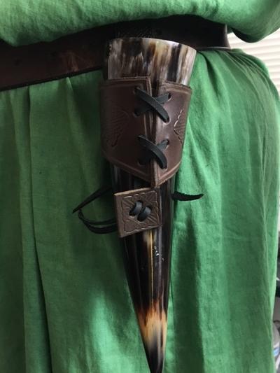Drinking Horn Holder, Drinking Horns, Viking Drinking horns, Shield Ravens