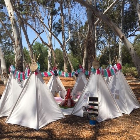 kids party rentals, party rentals, teepee rentals, teepee party, kids party planner, kids event planner, birthday parties, teepee parties, happy camper, happy glamper, Newport Beach, Orange County, CA