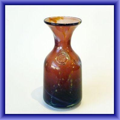 MDINA GLASS VASE with Mdina prunt,18cm