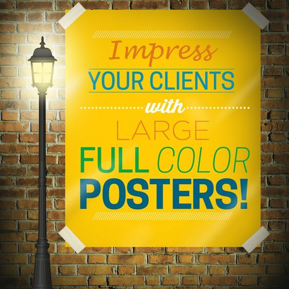 Large, Color, Poster, Paper