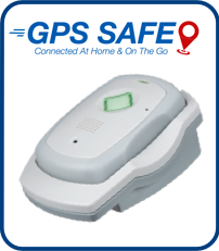 Image of the GPS Safe on the go device on the charge station.
