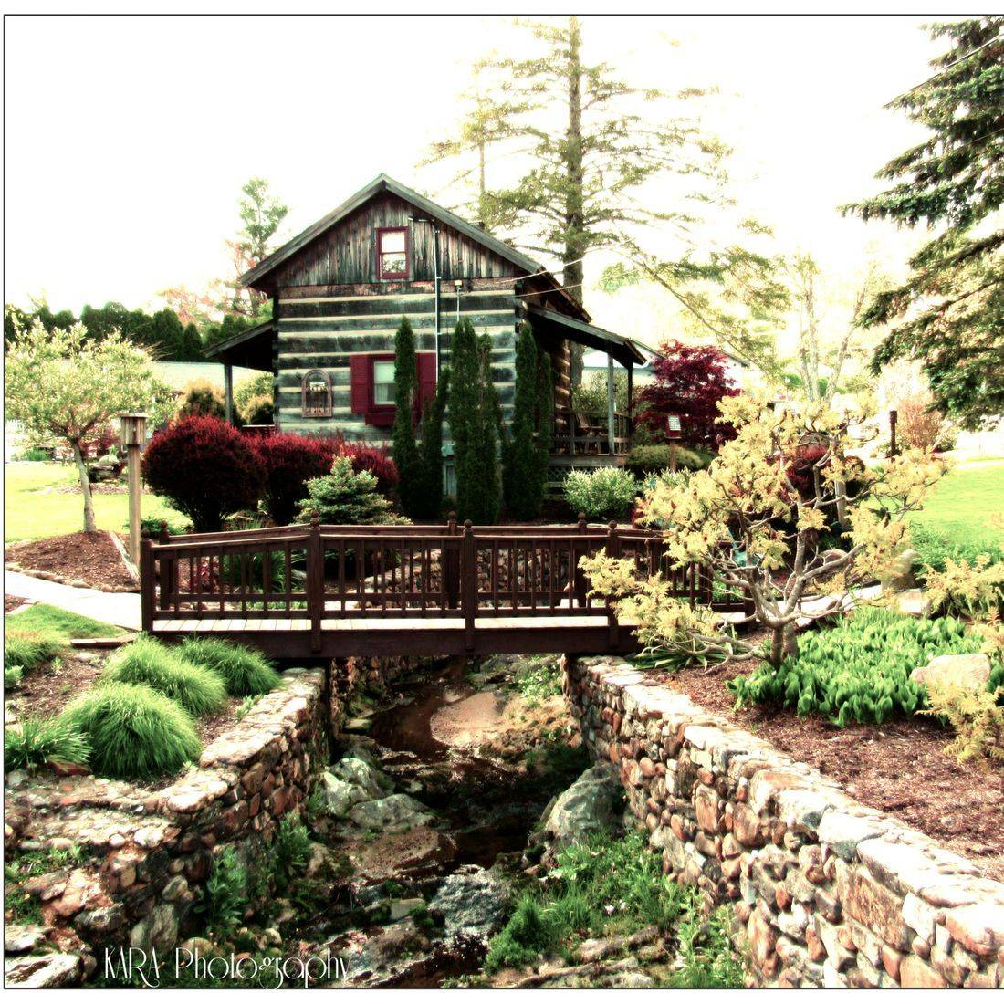 Blowing Rock, NC, Blue Ridge Mountains, Cabin, Garden
