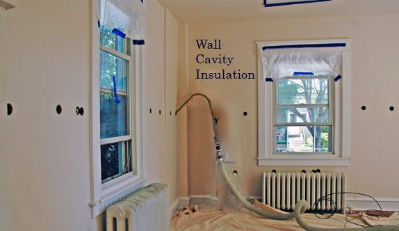 Wall-cavity insulation