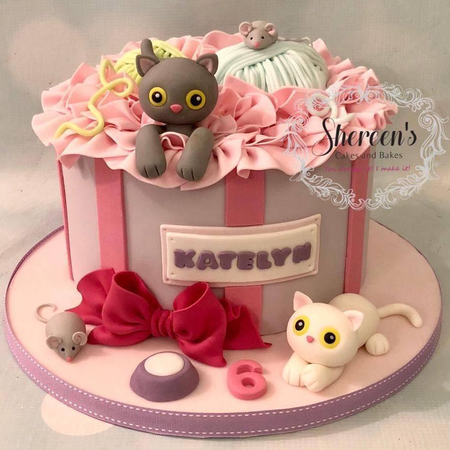 Cat gift box Cake