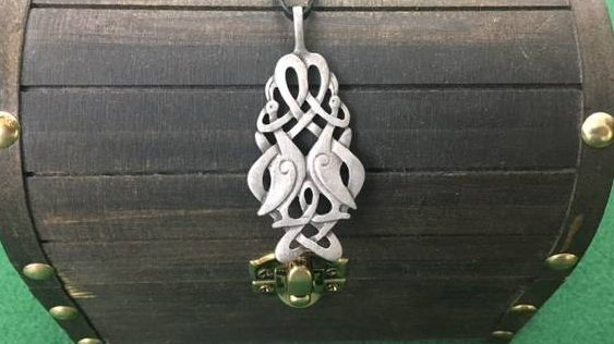 Celtic Bird Knotwork Necklace, Celtic, Irish, Iron Age, Shield Ravens