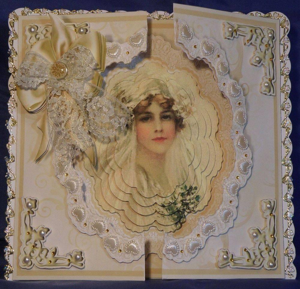 Gatefold Vintage Bride Card