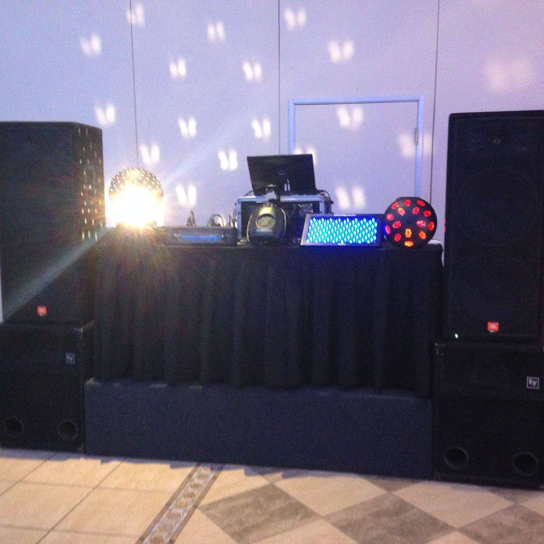 Mr. Productions DJ Service at a high school prom at the Burlington Convention Center.