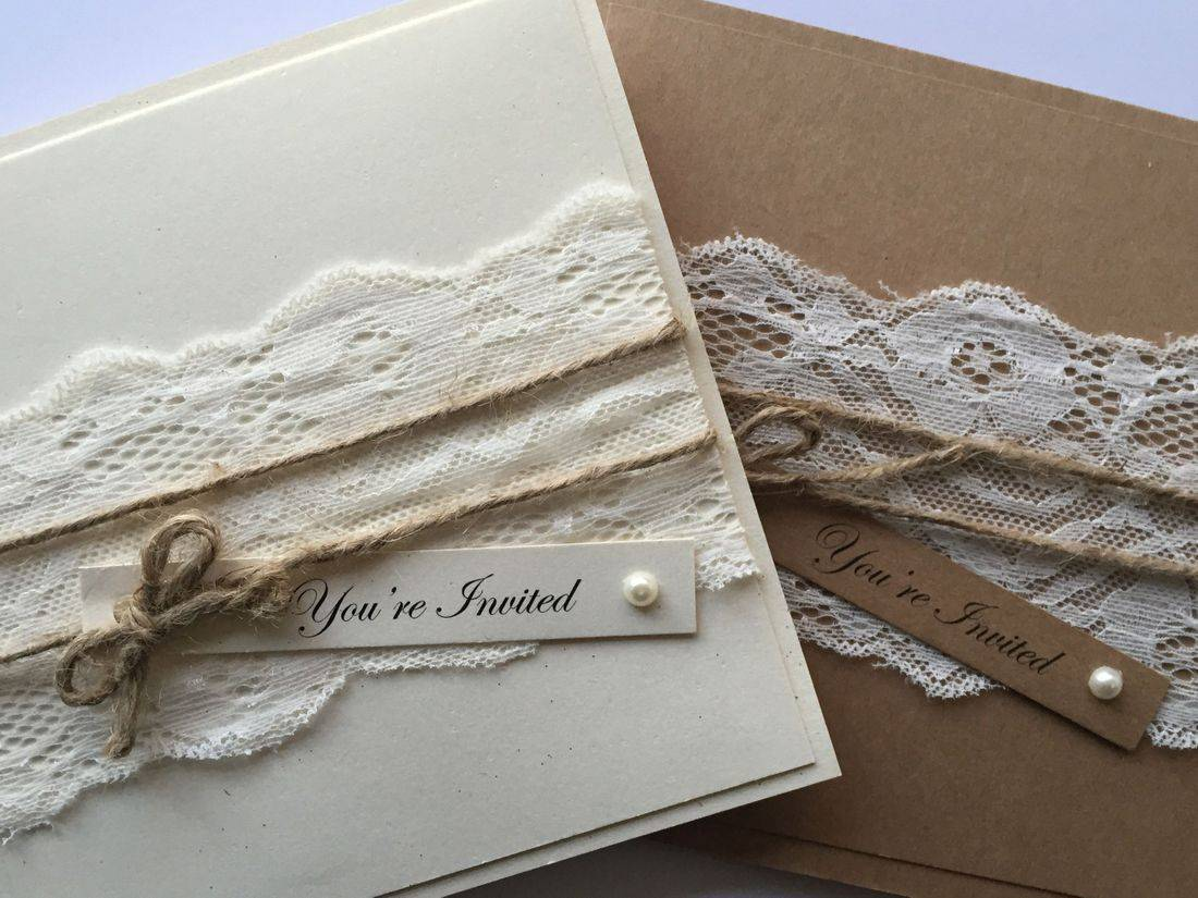 vintage wedding invitations, lace wedding invitations, wedding invitations