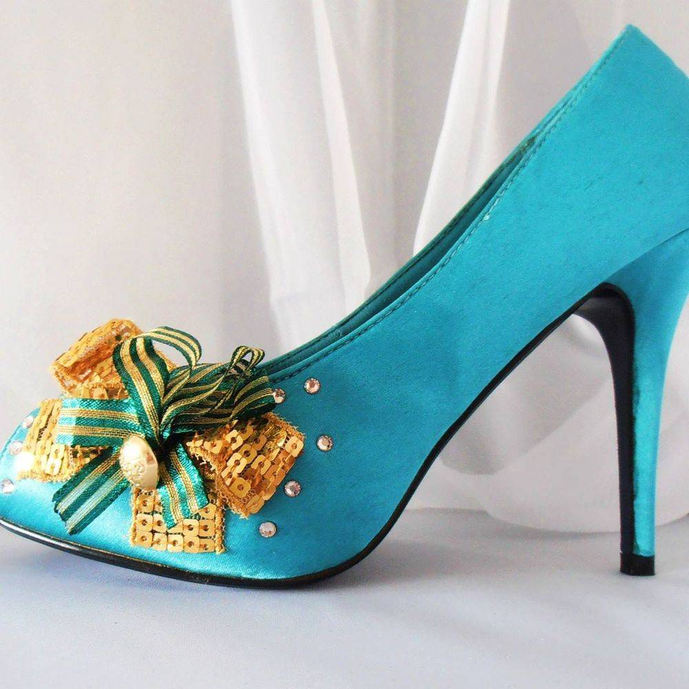 blue and gold special occasion wedding bridesmaid shoes nicky rox