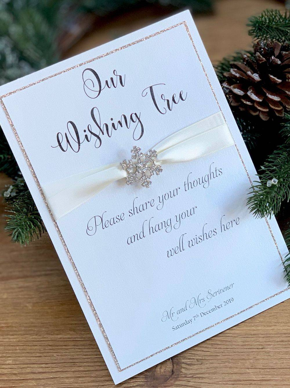 Wishing Tree sign for wedding day