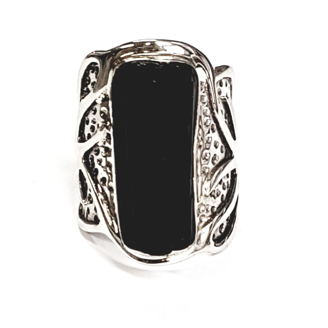 Solid Silver Black Tourmaline rings available at Kazbah online and our Leicester city centre shop
