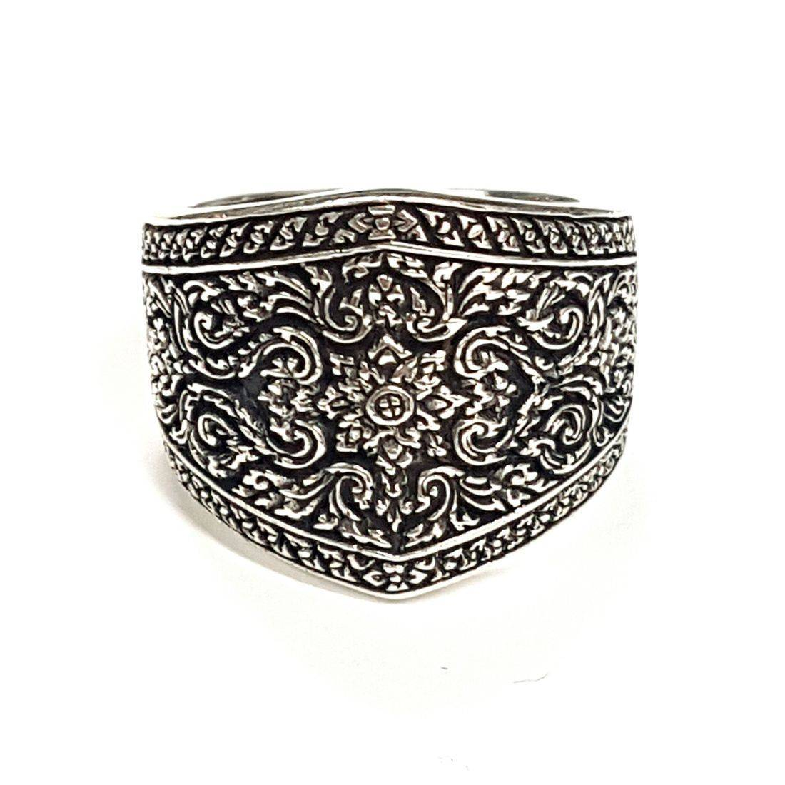 Flower & Scroll Ring  available at Kazbah online and our Leicester City Centre shop