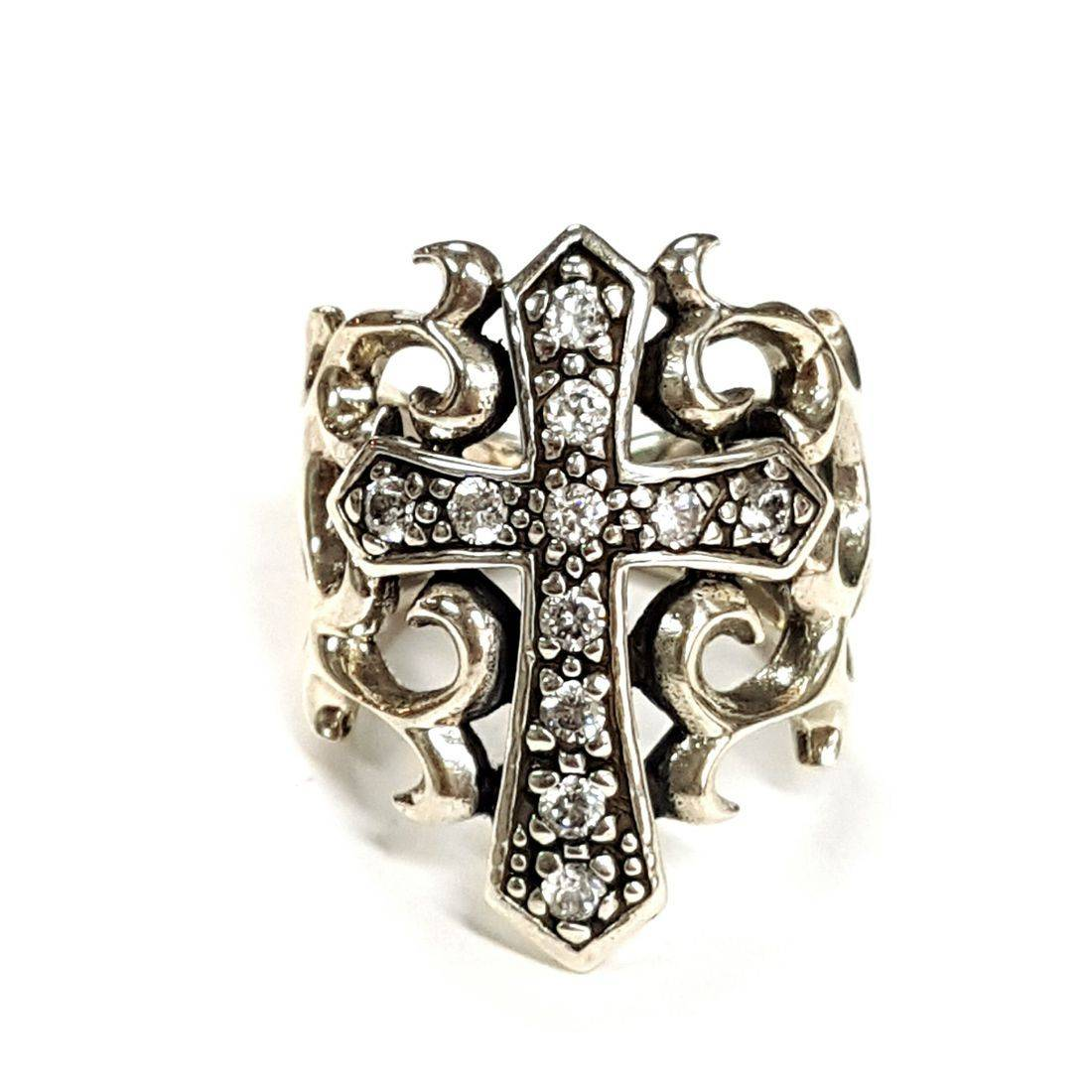 Crystal Cross Ring  available at Kazbah online and our Leicester City Centre shop