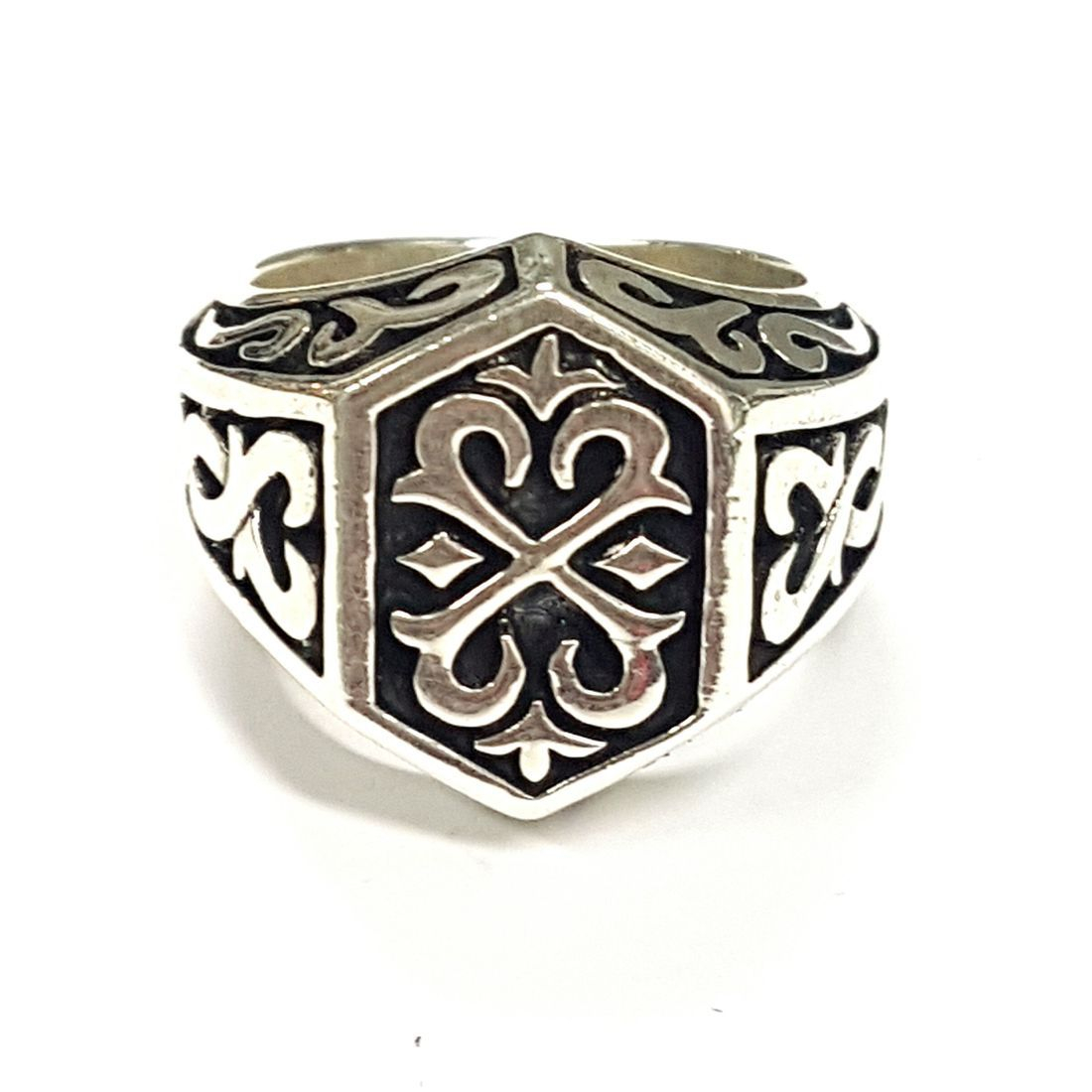 Solid Silver Decorative Ring  available at Kazbah online and our Leicester City Centre shop