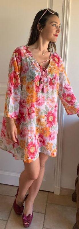 grande chemise, tunique coton