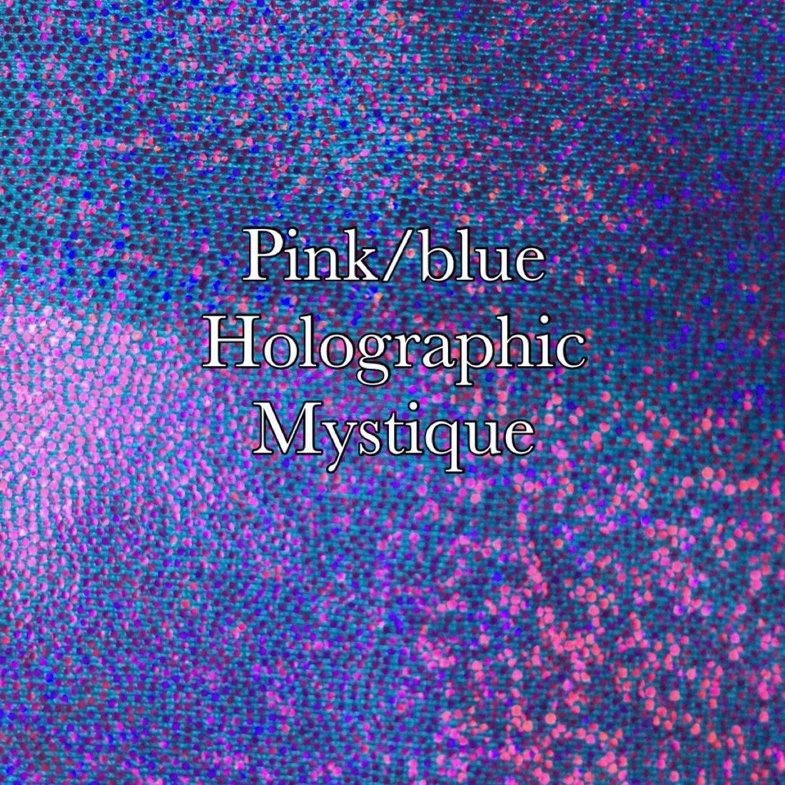 Pink blue holographic mist