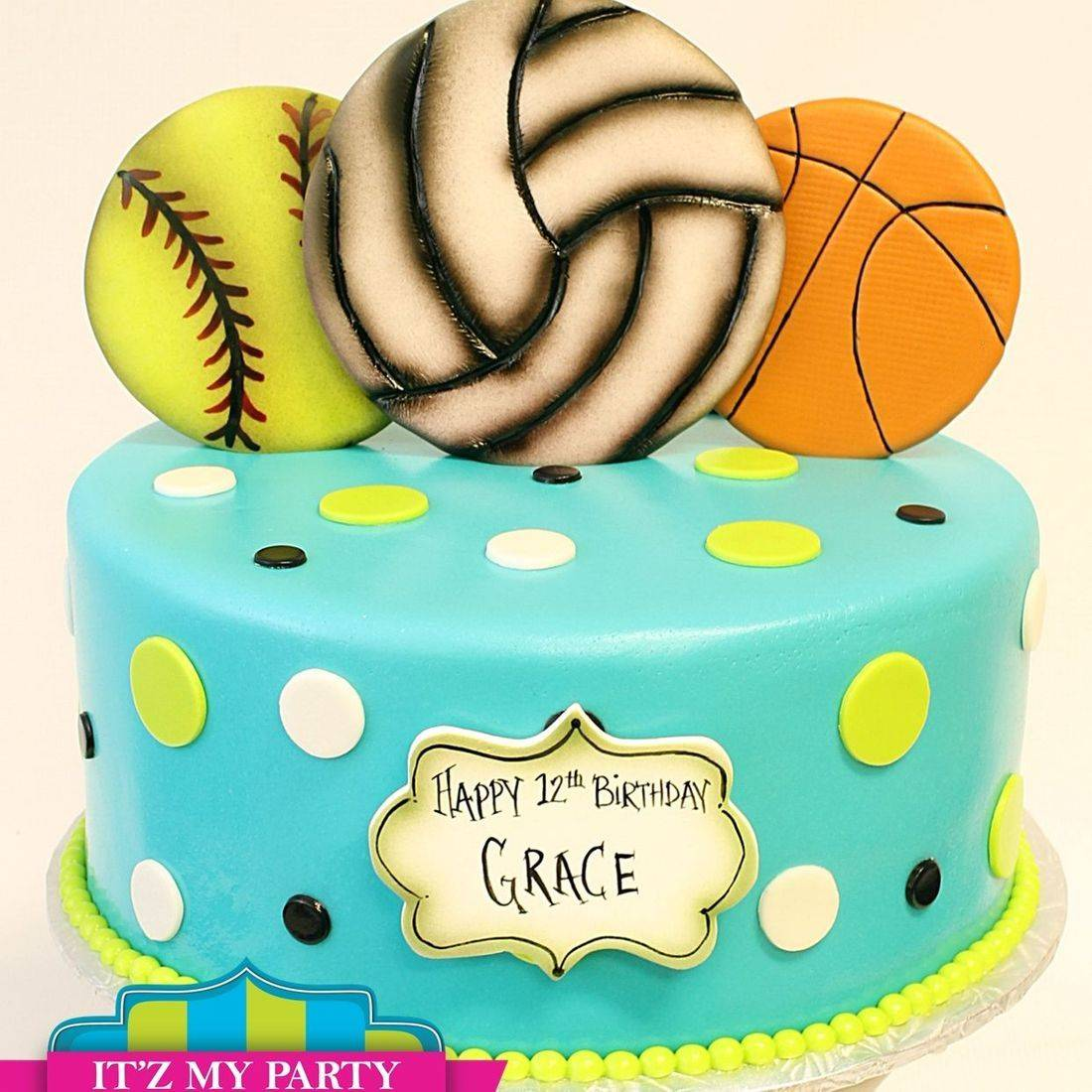 Custom Sports balls Cake Milwaukee