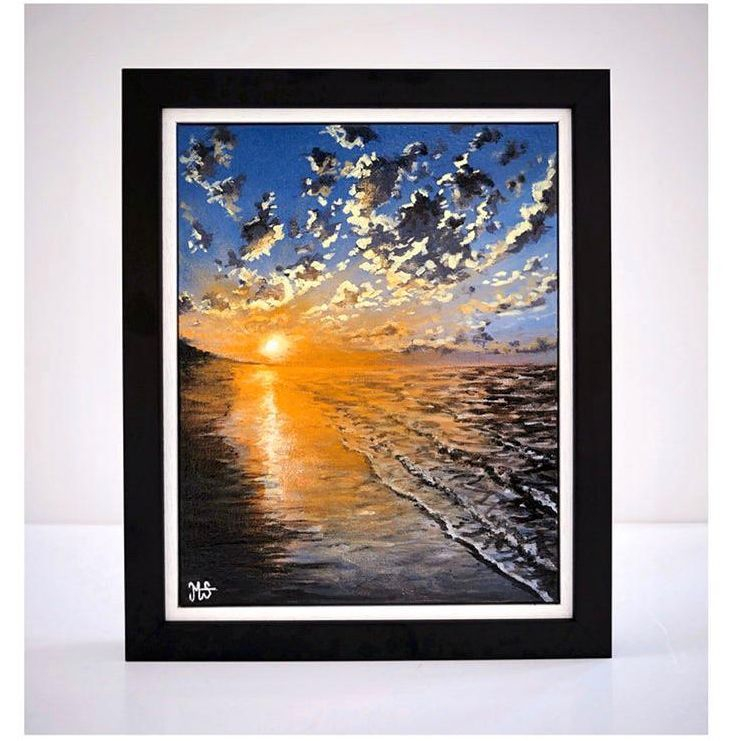 Original Sunset acrylic painting for sale by artist Murray Stewart