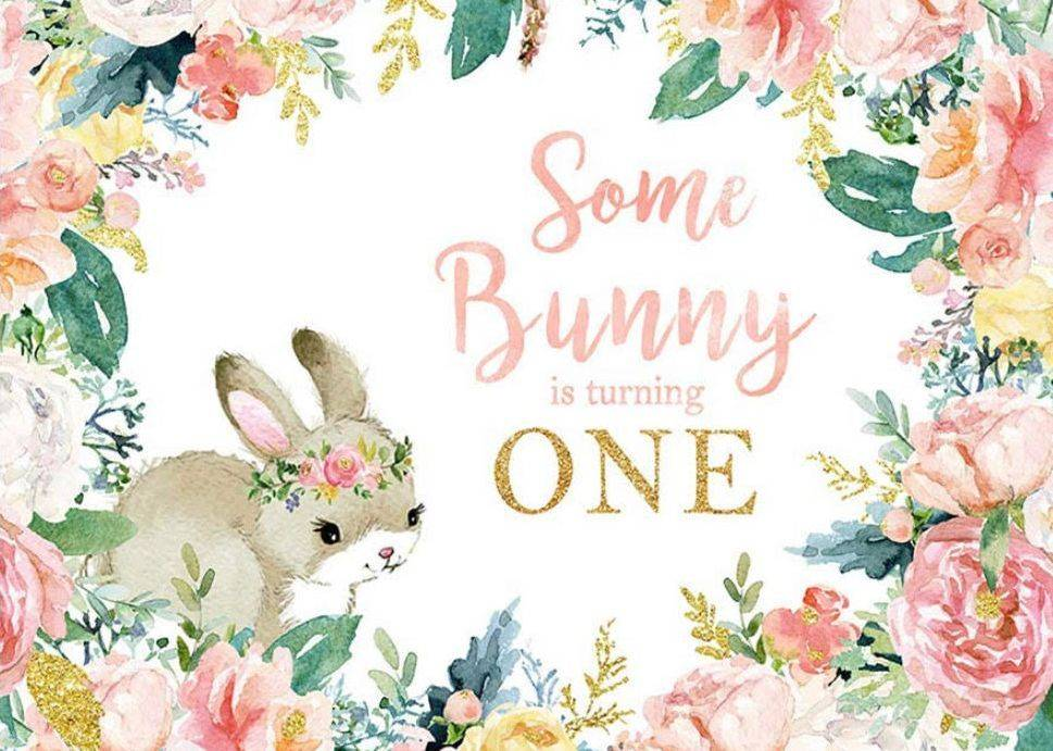 Some Bunny is One Party Backdrop