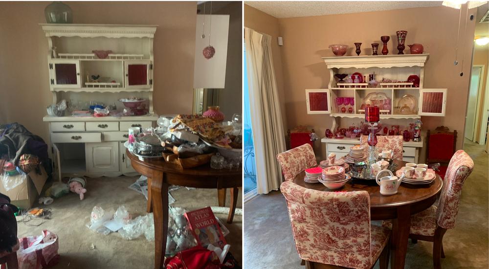 Before & After estate sale