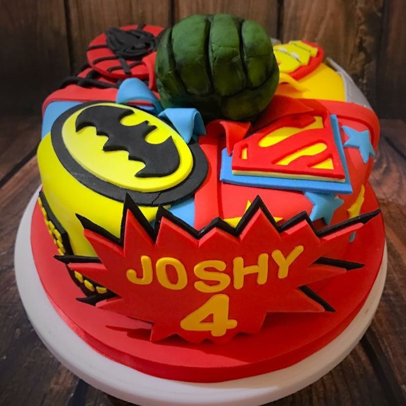 superhero hulk batman spiderman cake luton dunstable bedfordshire