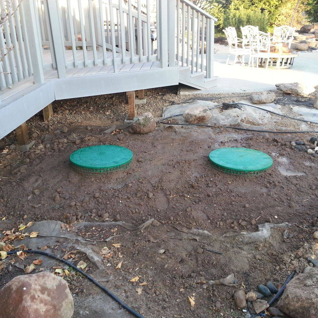 "Installed 24"" septic lid risers"