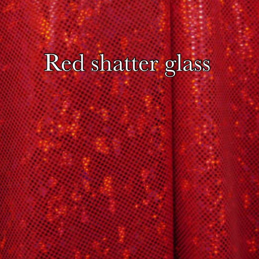 Red shattered glass