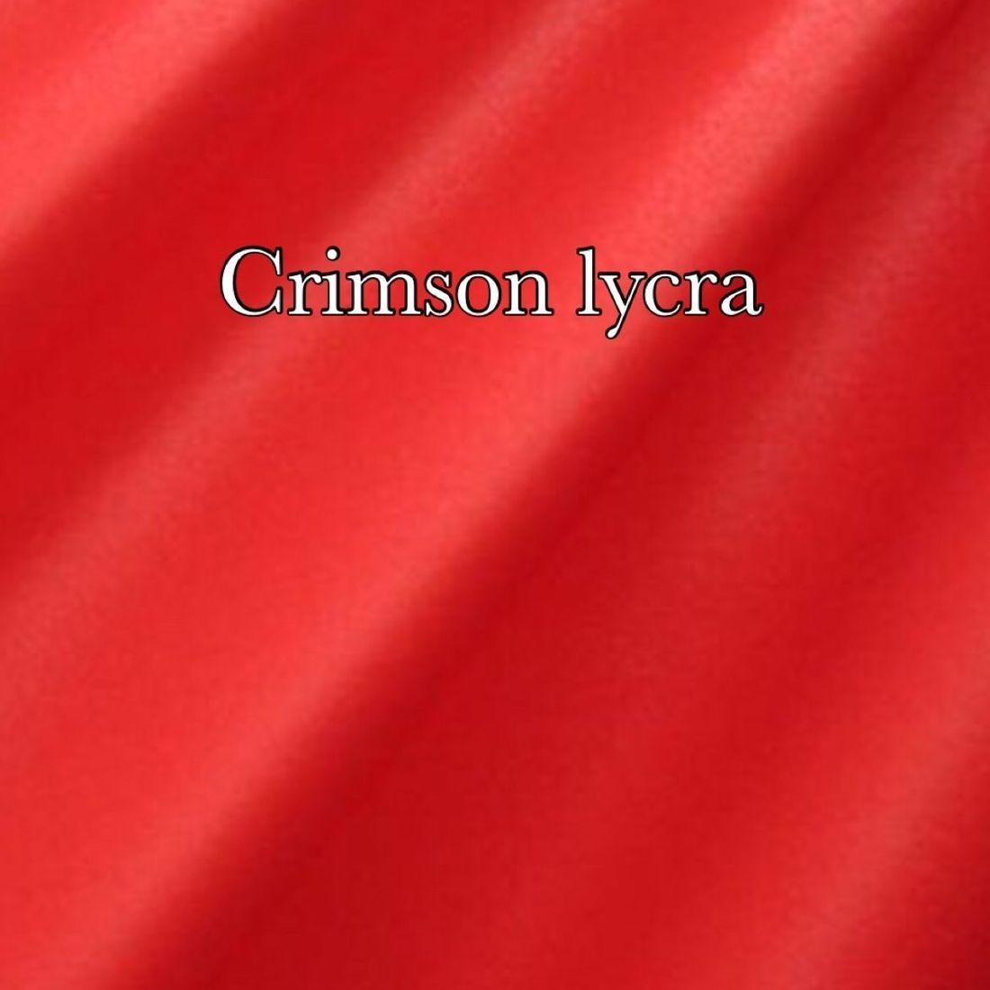 Crimson lycra