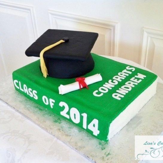 Book Graduation Cake