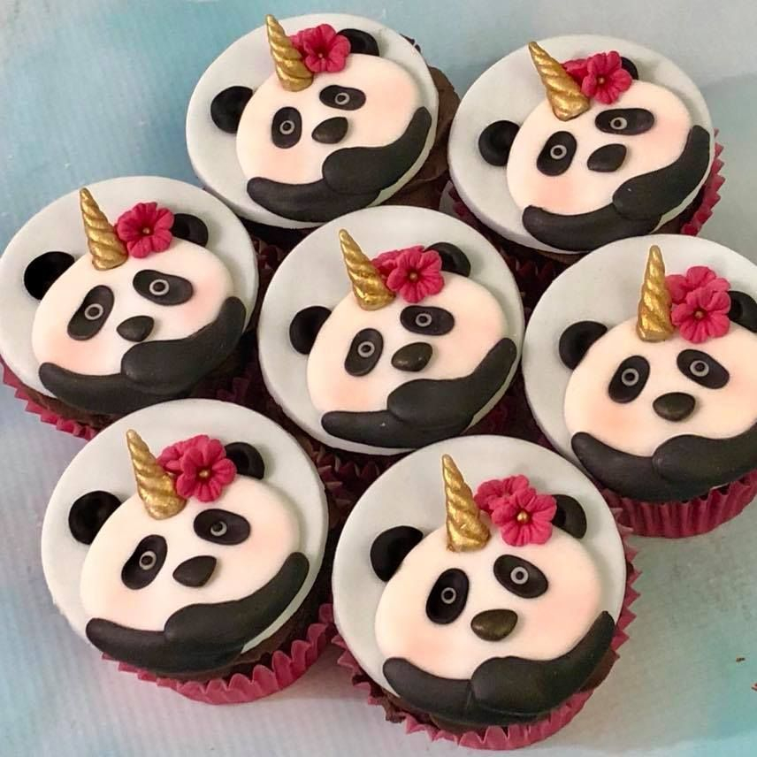Panda Pandacorn Pandicorn Unipanda Cupcakes Birthday Mother's Day Celebration