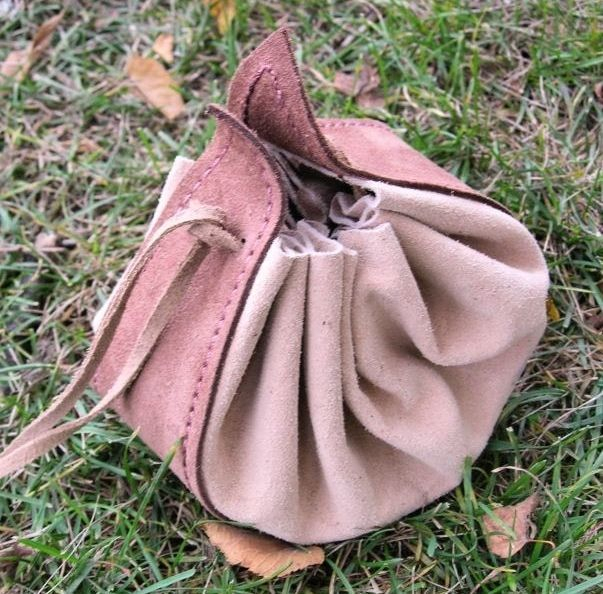 Medieval Pouch, Dice Bags, Larping, Iron Age, Viking Age, Vikings Shield Ravens, Coin Pouch