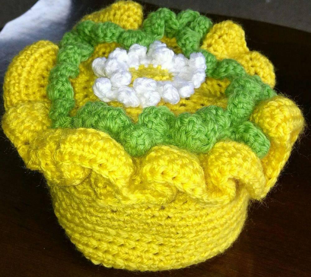 Baby Cake Hat Handmade with Flower