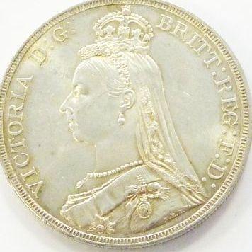 OLD BRITISH COINS/Victoria Jubilee Crown 1887 UNC