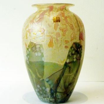 STUNNING baluster vase from the flower garden range, 22cm h x 44cm circ
