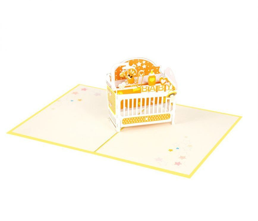 New Baby Cot (Yellow)