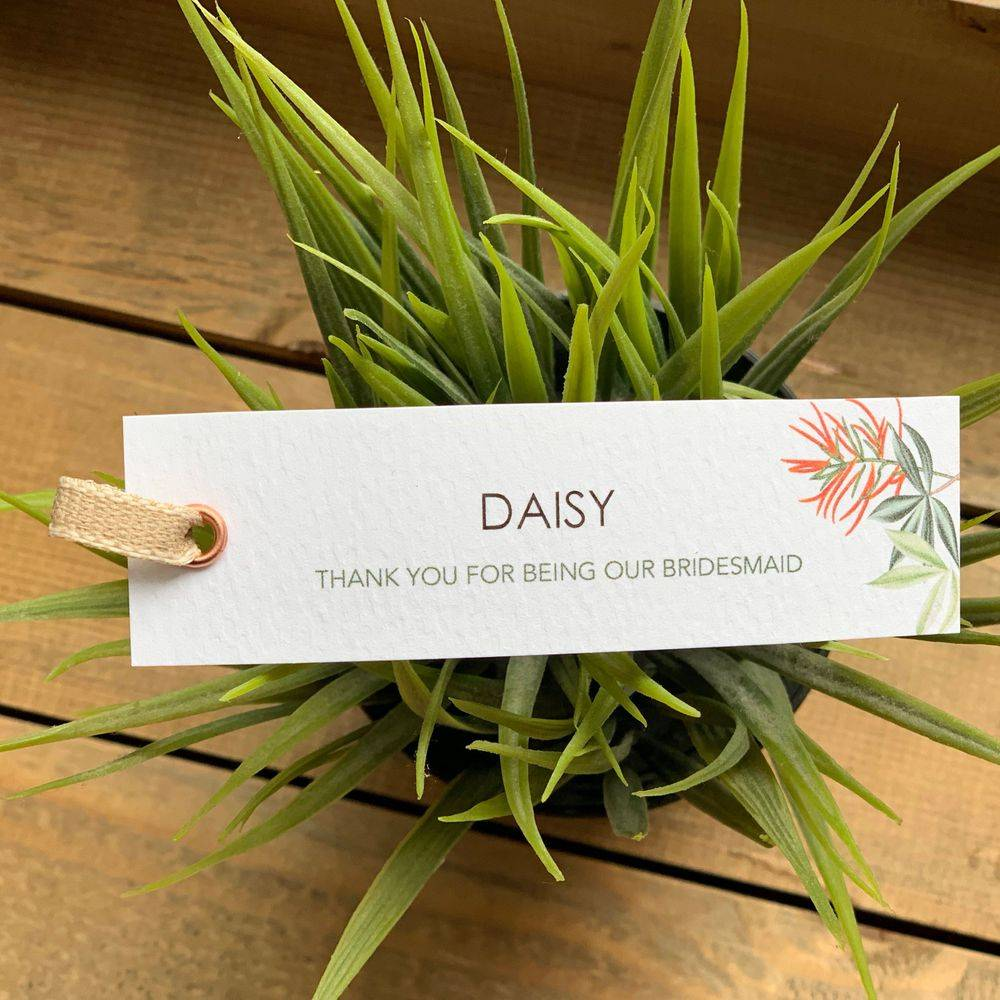 Personalised wedding gift tags - wedding abroad stationery