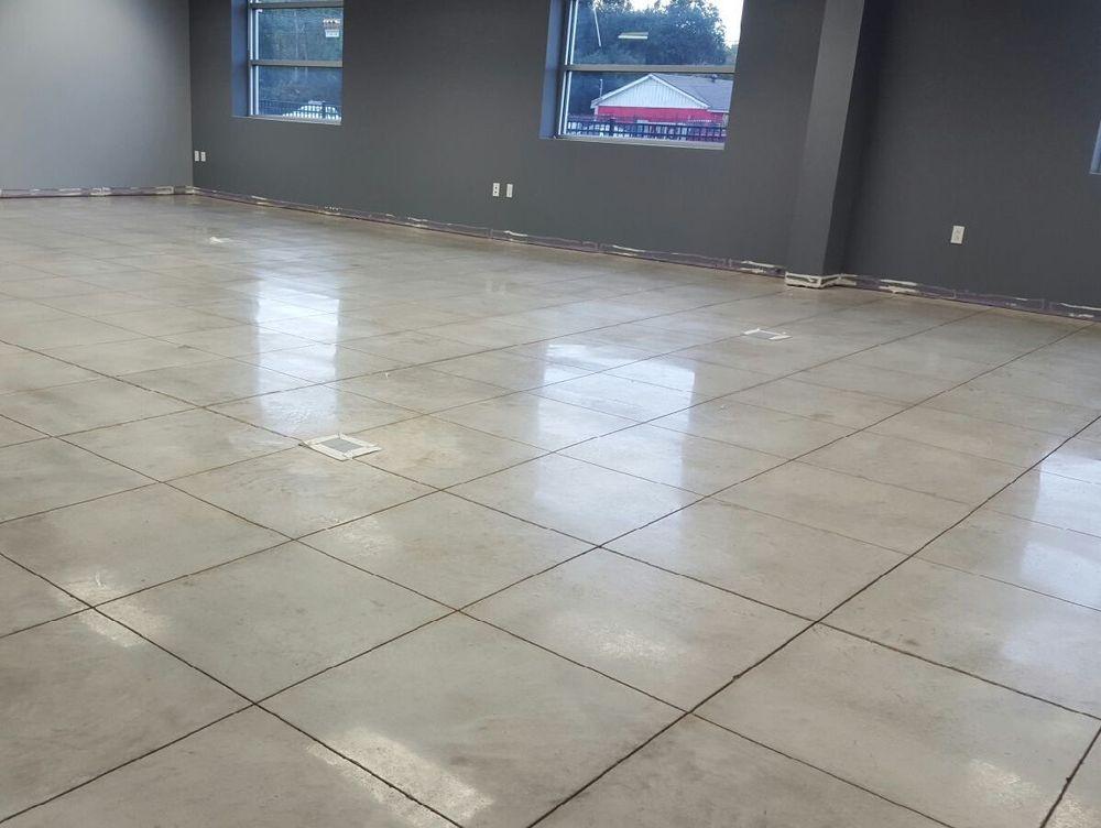 Polished concrete commercial floors houston texas