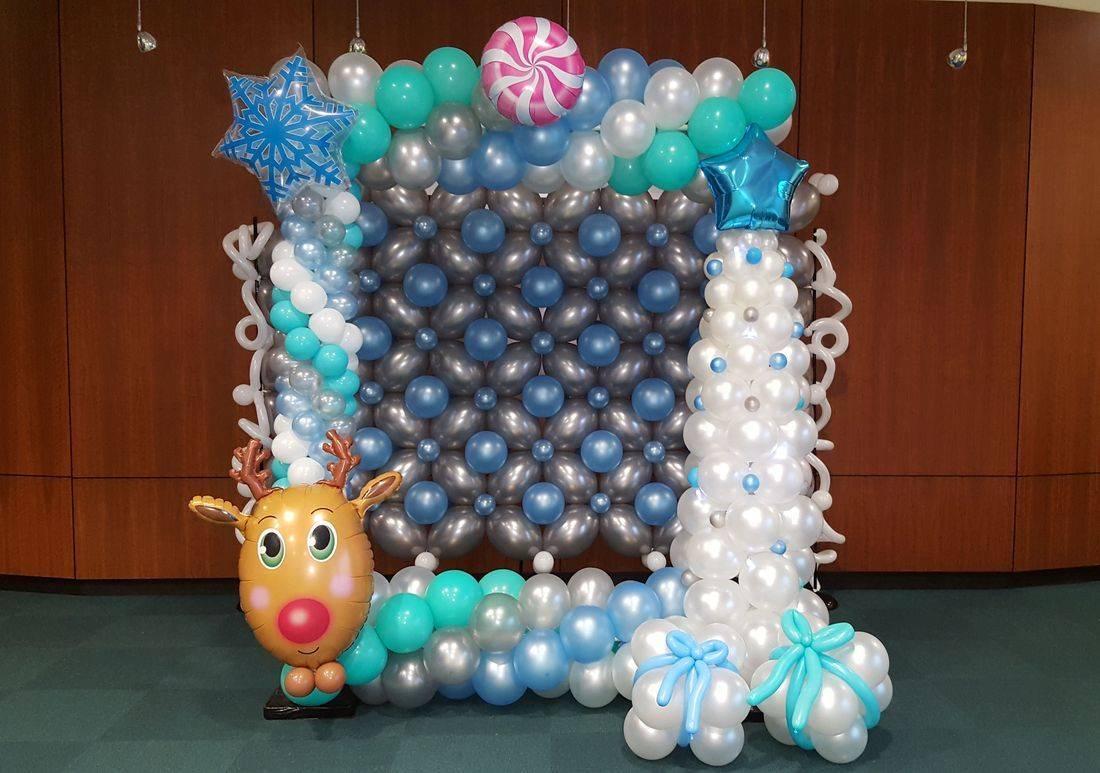 winter wonder land, phto frame, balloons, picture frame, winter