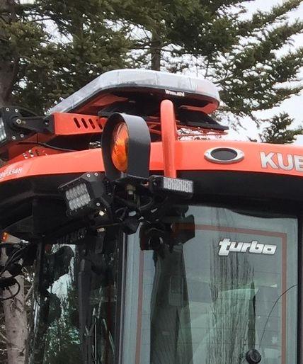 Kubota tractor light guard