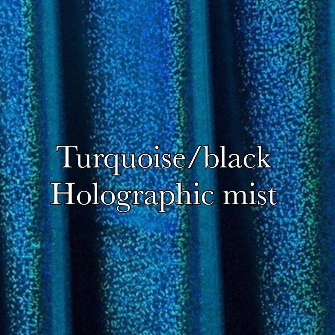 Turquoise black holographic mist