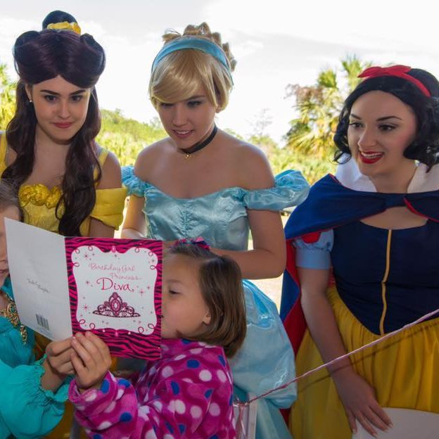 Snow White, Belle, Sleeping Beauty and Cinderella